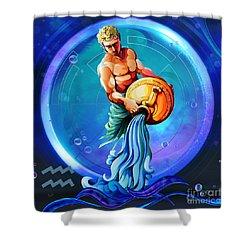 Horoscope Signs-aquarius Shower Curtain