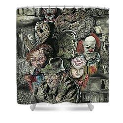 Horror Movie Murderers Shower Curtain
