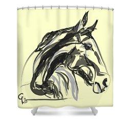 horse - Apple digital Shower Curtain