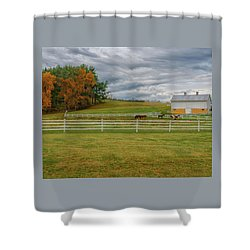 Horse Barn In Ohio  Shower Curtain