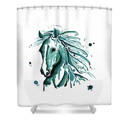 Horse Canvas Art  Shower Curtain