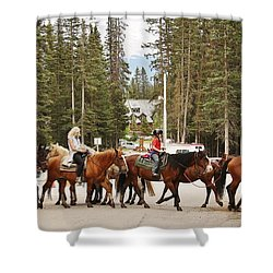 Horse Crossing Shower Curtain