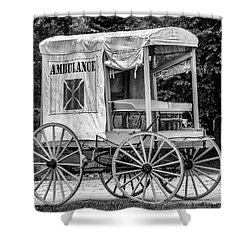 Horse Drawn Ambulance  Shower Curtain