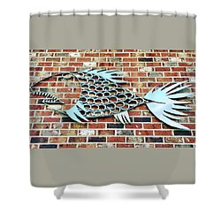 Fish Shoe  Shower Curtain