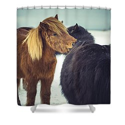 Horse Friends Forever Shower Curtain