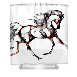 Horse In Extended Trot Shower Curtain