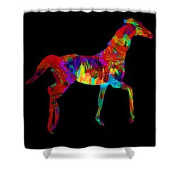 Shower Curtain featuring the photograph Horse by James Bethanis
