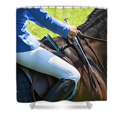 Shower Curtain featuring the photograph Horse Jumping 3 by Roy McPeak