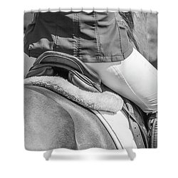Shower Curtain featuring the photograph Horse Jumping  by Roy McPeak