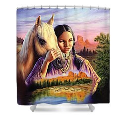 Horse Maiden Shower Curtain by Andrew Farley