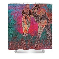 Horse Multi Color Shower Curtain