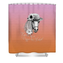 Horse Of A Different Color Shower Curtain by Cindy Anderson