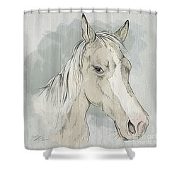Horse Portrait-farm Animals Shower Curtain