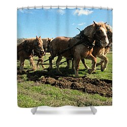 Shower Curtain featuring the photograph Horse Power by Jeff Swan