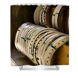 Horse Shoes Shower Curtain by Angela Rath
