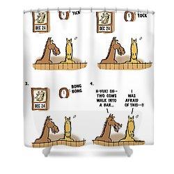 Horse Talk Shower Curtain