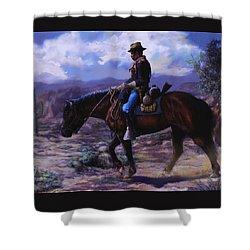 Horse Trainer Shower Curtain