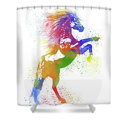 Horse Watercolor 1 Shower Curtain