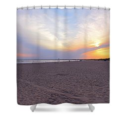 Horseback Beach  Shower Curtain