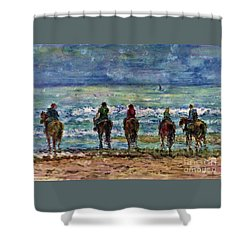 Horseback Beach Memories Shower Curtain