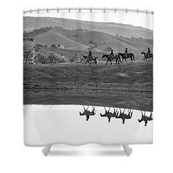 Horseback Landscape Shower Curtain