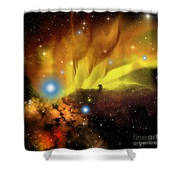 Horsehead Nebula Shower Curtain by Corey Ford