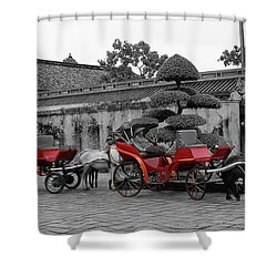 Horses And Carriages Shower Curtain