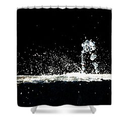 Horses And Men In Rain Shower Curtain by Bob Orsillo