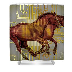 The Sound Of The Horses. Shower Curtain