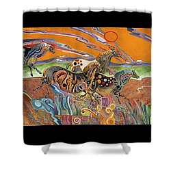 Horses Of The Ardeche Valley France Shower Curtain