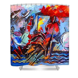 Horses On Beach Shower Curtain
