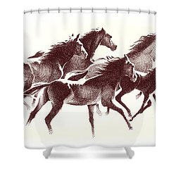 Horses2 Mug Shower Curtain