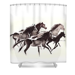 Horses4 Mug Shower Curtain