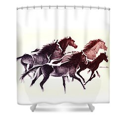 Horses5 Mug Shower Curtain