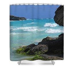 Horseshoe Bay Rocks Shower Curtain