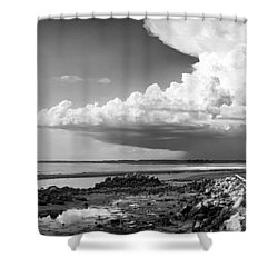 Shower Curtain featuring the photograph Horseshoe Beach by Howard Salmon