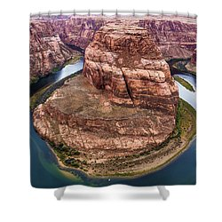 Horseshoe Bend - Aqua Shower Curtain