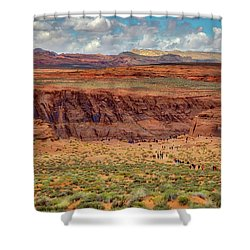 Shower Curtain featuring the photograph Horseshoe Bend Arizona #2 by Jennifer Rondinelli Reilly - Fine Art Photography