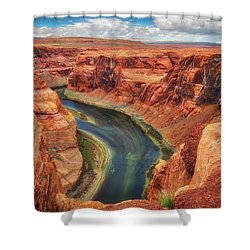 Horseshoe Bend Arizona - Colorado River #2 Shower Curtain by Jennifer Rondinelli Reilly - Fine Art Photography