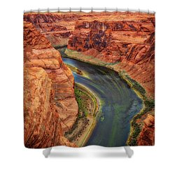 Shower Curtain featuring the photograph Horseshoe Bend Arizona - Colorado River #3 by Jennifer Rondinelli Reilly - Fine Art Photography