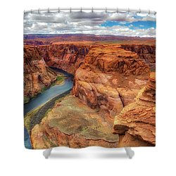 Horseshoe Bend Arizona - Colorado River $4 Shower Curtain by Jennifer Rondinelli Reilly - Fine Art Photography