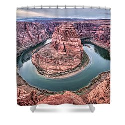 Shower Curtain featuring the photograph Horseshoe Bend Arizona by Todd Aaron