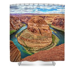 Shower Curtain featuring the photograph Horseshoe Bend - Colorado River - Arizona by Jennifer Rondinelli Reilly - Fine Art Photography
