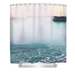 Horseshoe Falls At Dusk Shower Curtain