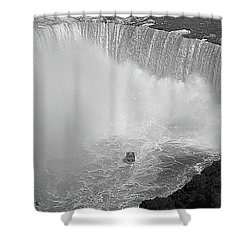 Horseshoe Falls Black And White Shower Curtain by DigiArt Diaries by Vicky B Fuller
