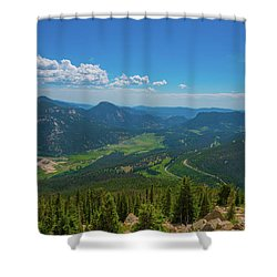 Horseshoe Park From Rainbow Curve 1 Shower Curtain