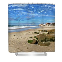 Shower Curtain featuring the photograph Horseshoes by Peter Tellone