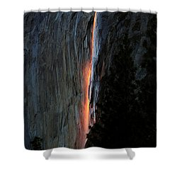Horsetail Falls Aglow Shower Curtain