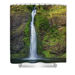 Shower Curtain featuring the photograph Horsetail Falls In Spring by Greg Nyquist
