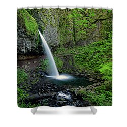 Horsetail Falls Waterfall Art By Kaylyn Franks Shower Curtain